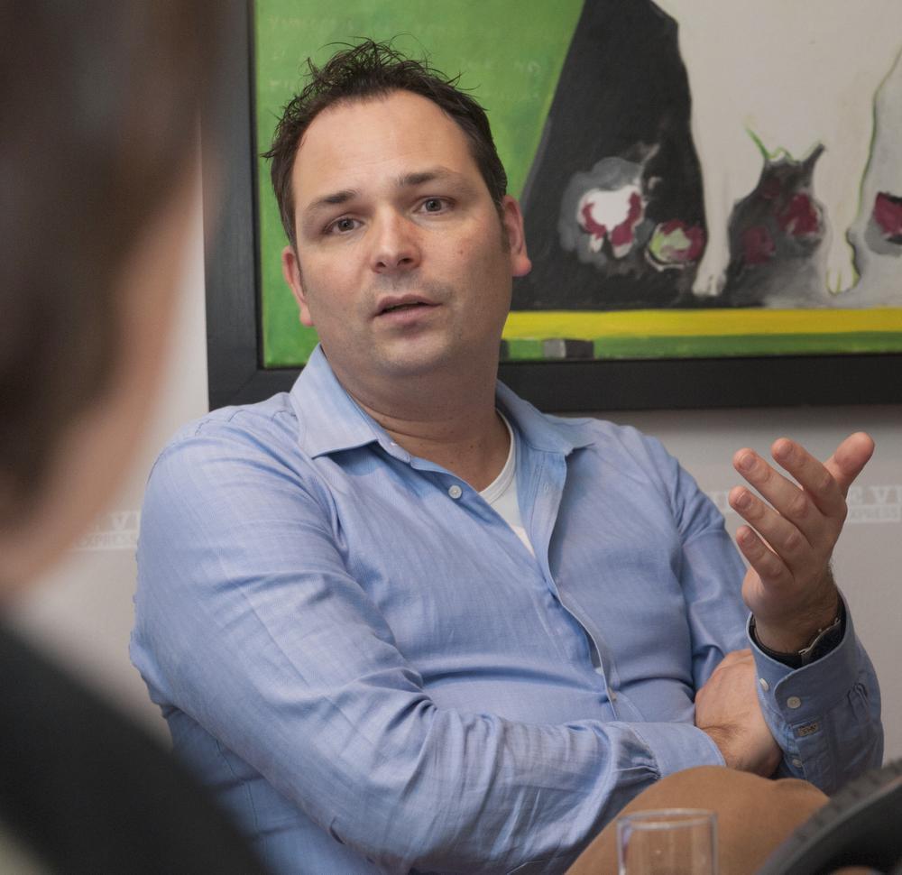 Vincent Molkenboer, practice performance manager voor contactlenzenproducent Alcon., Jerry De Brie