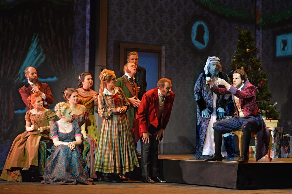 Warre Borgmans schittert in 'Scrooge, de musical'