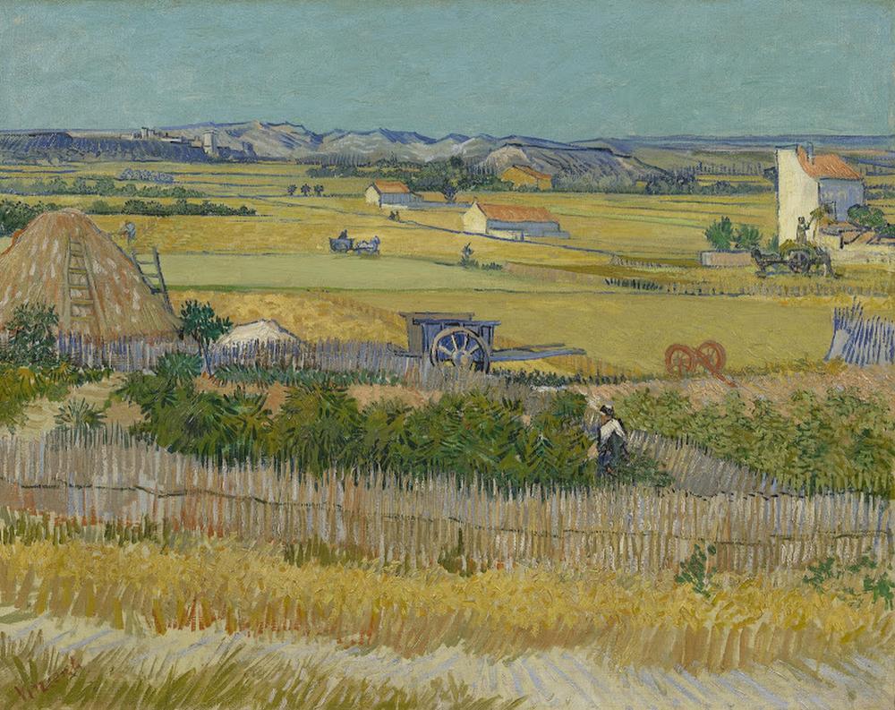 De oogst, Vincent van Gogh, juni 1888, De oogst, Vincent van Gogh, juni 1888. Foto: Maurice Tromp