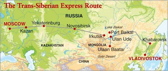 Dwars door Rusland per trein