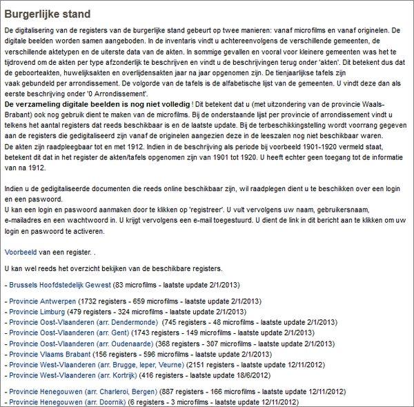 De Belgische archieven op het internet: gebruiksaanwijzing