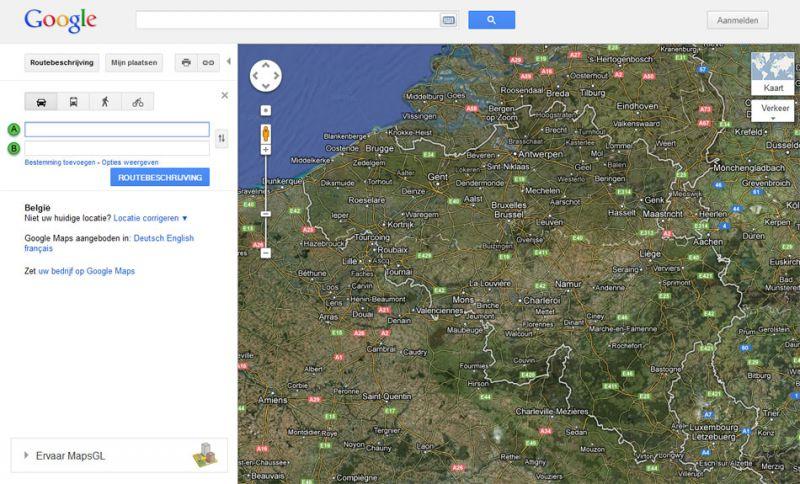 Een fietsroute plannen met Google Maps