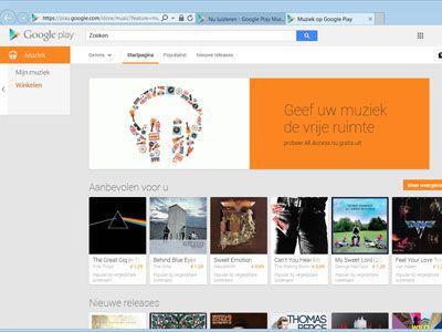 Muziek beluisteren met Google Play Music