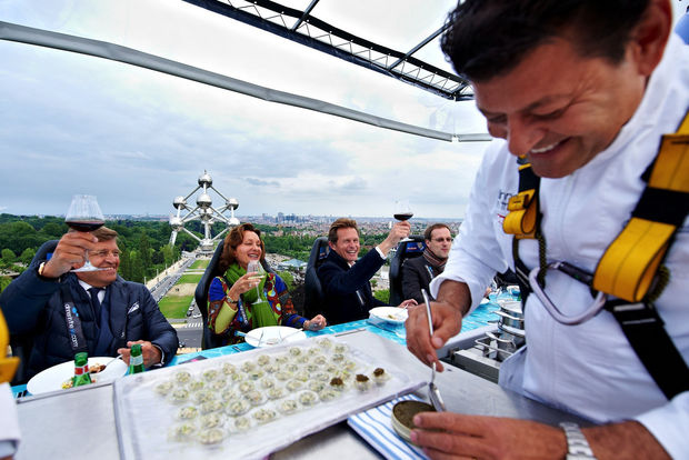 'Dinner in the sky' met sterrenchefs